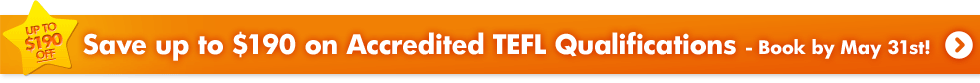Check out our latest TEFL Deals - Offer ends May 31st!