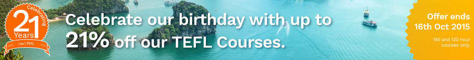 Save on Internationally Recognized TEFL Courses